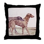 Irish Wolfhounds Throw Pillow