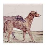 Irish Wolfhounds Tile Coaster