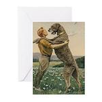 Irish Wolfhound Cards 10PK