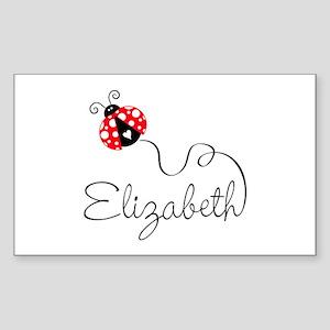 Ladybug Elizabeth Sticker