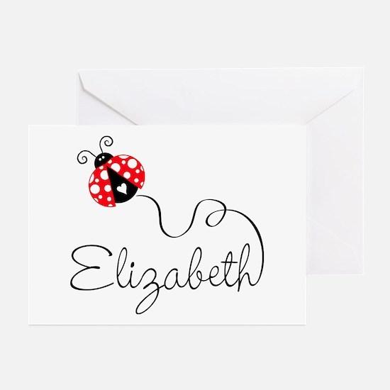 Ladybug Elizabeth Greeting Cards (Pk of 20)