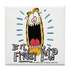 Friday Garfield Tile Coaster