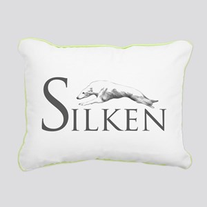 Silken Logo Olive Rectangular Canvas Pillow