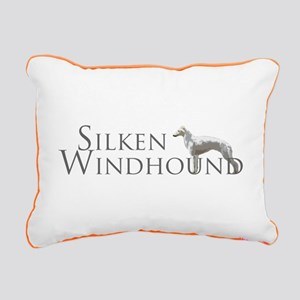 Silken Windhound Logo Rectangular Canvas Pillow