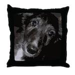 Silken Puppy Love Throw Pillow