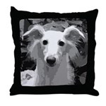 Silken Windhound Portrait Throw Pillow