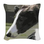 Silken Puppy Woven Throw Pillow