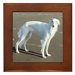 Silken Windhound Framed Tile