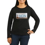 Navajo Nation NDN plate Women's Long Sleeve Dark T