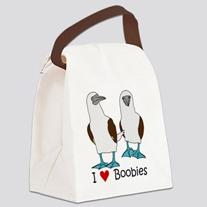 I Heart Boobies Canvas Lunch Bag