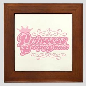 Princess PoopyPants Framed Tile