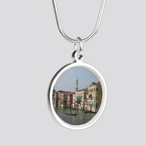 Romance in Venice Silver Round Necklace
