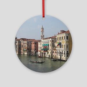Romance in Venice Round Ornament