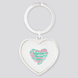 SLP-A Heart cloud Heart Keychain