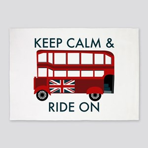 Keep Calm & Ride On 5'x7'Area Rug