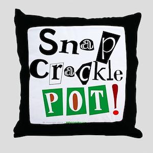 Snap, Crackle, Pot ! Throw Pillow