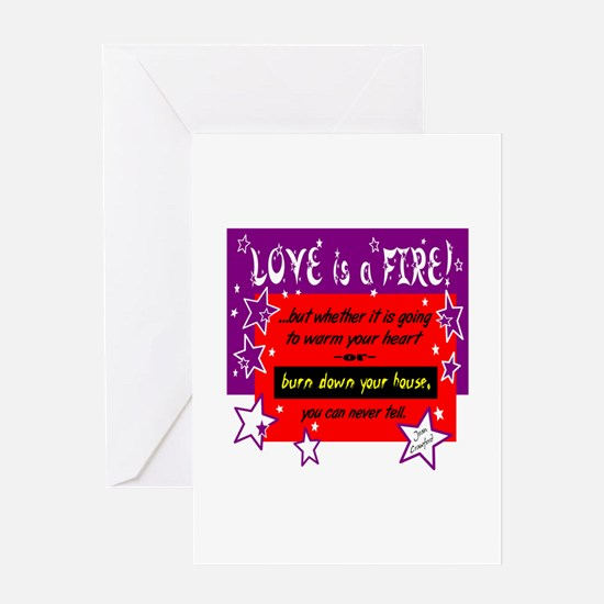 Love Is A Fire/Joan Crawford Greeting Cards