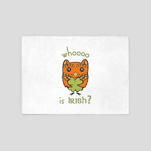 Whoooo is Irish 5'x7'Area Rug