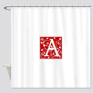a-ana-red Shower Curtain