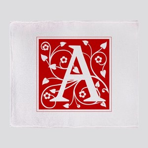 a-ana-red Throw Blanket