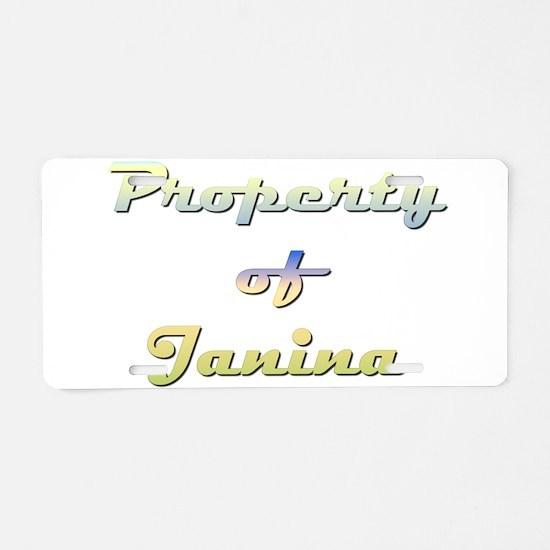 Property Of Janina Female Aluminum License Plate