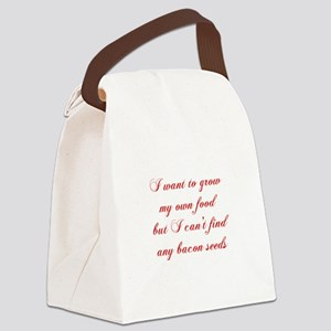bacon-seeds-cho-red Canvas Lunch Bag