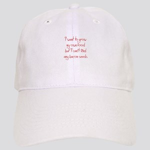 bacon-seeds-jel-red Baseball Cap