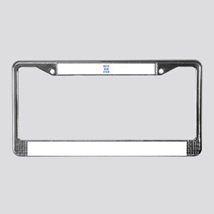 best-dad-ever-BOD-BLUE License Plate Frame