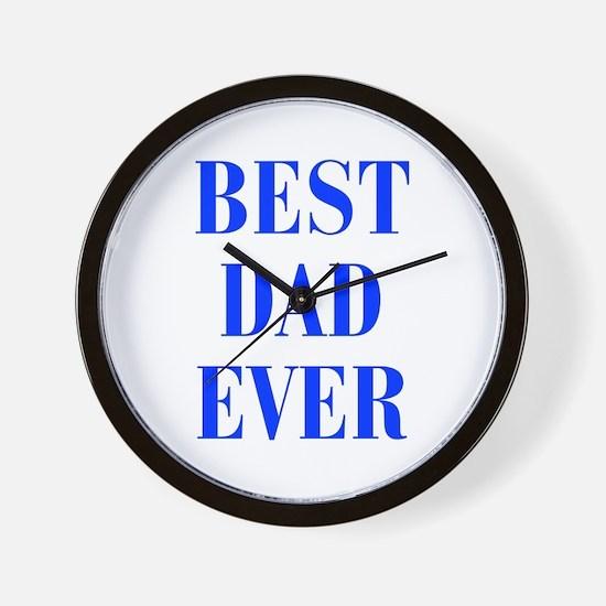 best-dad-ever-BOD-BLUE Wall Clock