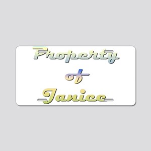 Property Of Janice Female Aluminum License Plate