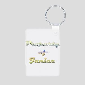Property Of Janice Female Aluminum Photo Keychain