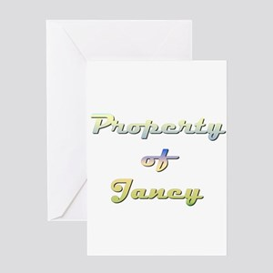 Property Of Janey Female Greeting Card