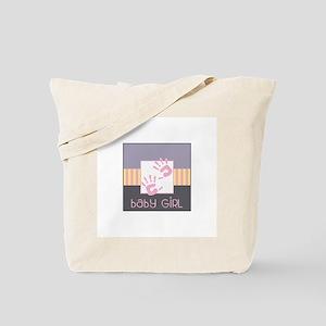 Baby Girl Hands Tote Bag