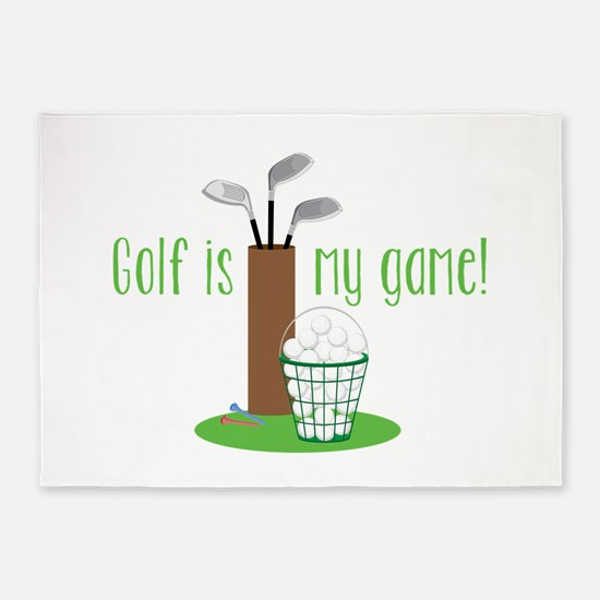 Golf Is My Game 5'x7'Area Rug