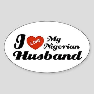 I Love my Nigerian Husband Oval Sticker