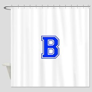b-var-blue Shower Curtain