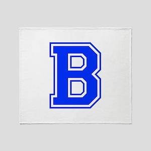 b-var-blue Throw Blanket