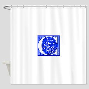 C-FLE-BLUE Shower Curtain