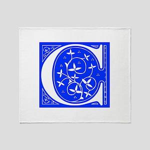 C-FLE-BLUE Throw Blanket