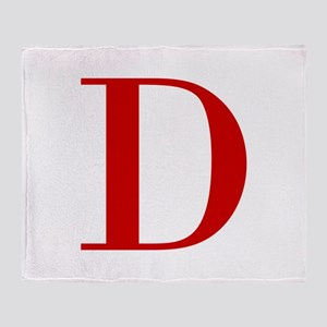D-BOD-RED Throw Blanket