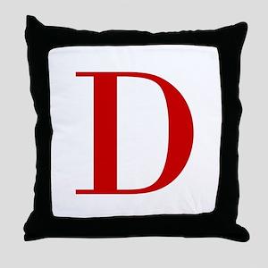 D-BOD-RED Throw Pillow