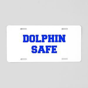 DOLPHIN-SAFE-FRESH-BLUE Aluminum License Plate
