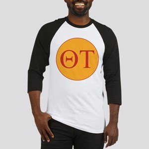 Theta Tau Fraternity Letters in Re Baseball Jersey