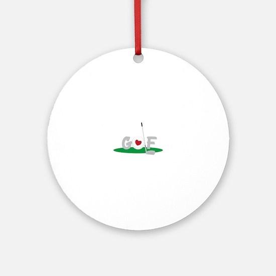 Love Golf Ornament (Round)