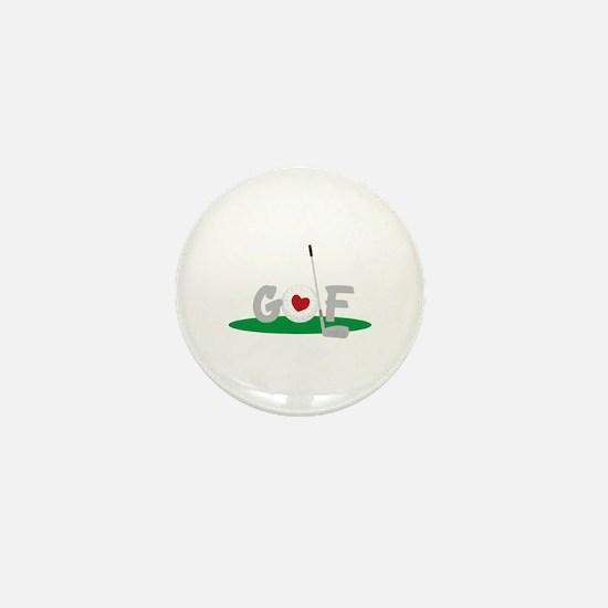 Love Golf Mini Button