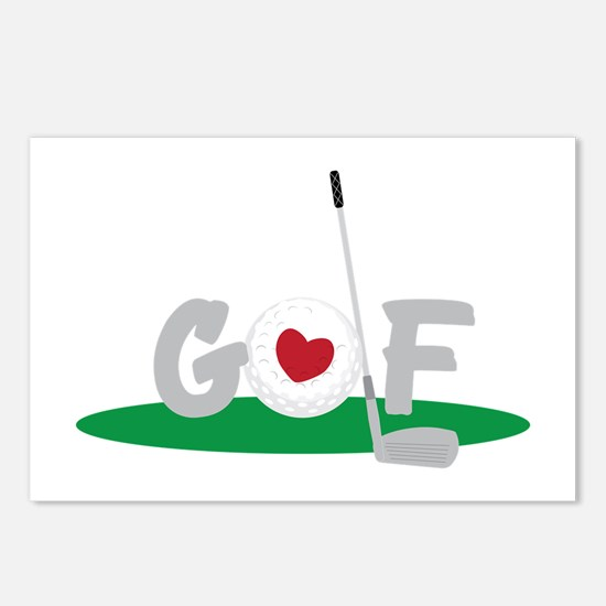 Love Golf Postcards (Package of 8)