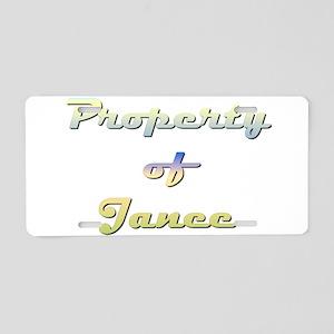 Property Of Janee Female Aluminum License Plate