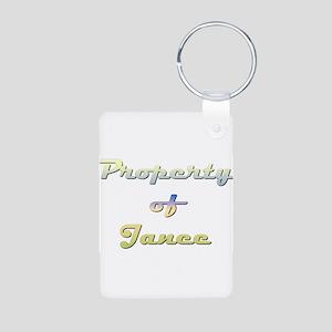Property Of Janee Female Aluminum Photo Keychain