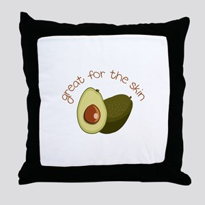 Great for the Skin Throw Pillow