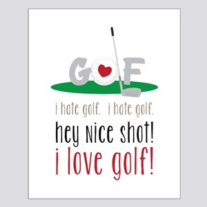 I Love Golf Posters